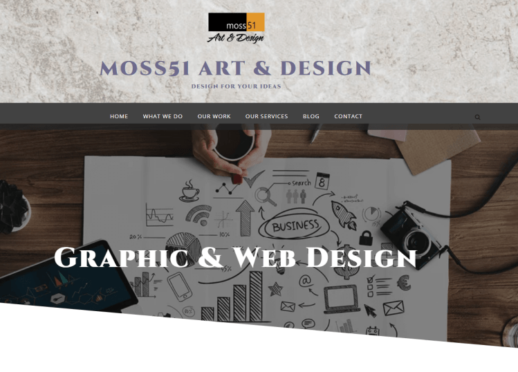 homepage of Moss51 website the proximity principle applied