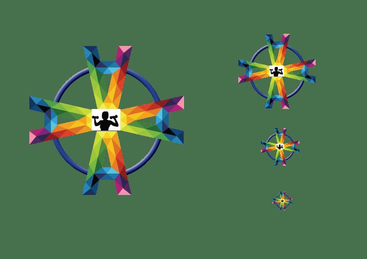 symmetry principle in a logo