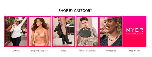 myer shop page