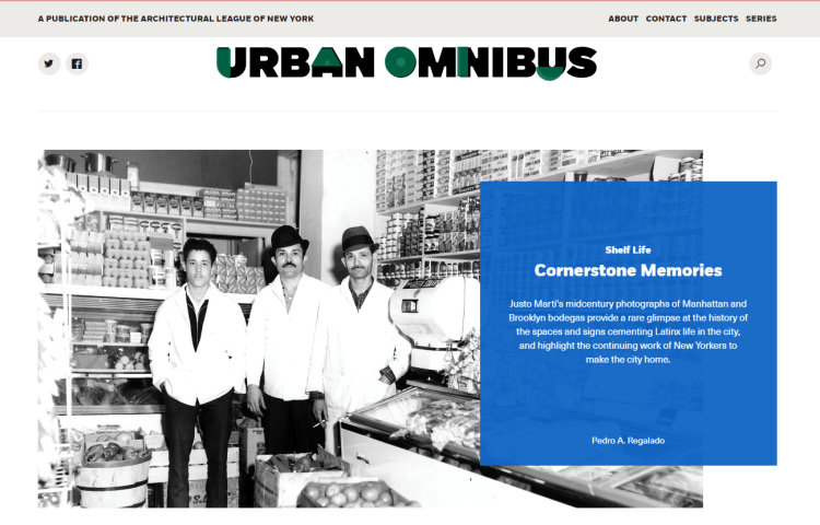 home page of Urban Onmibus website to reach target audience