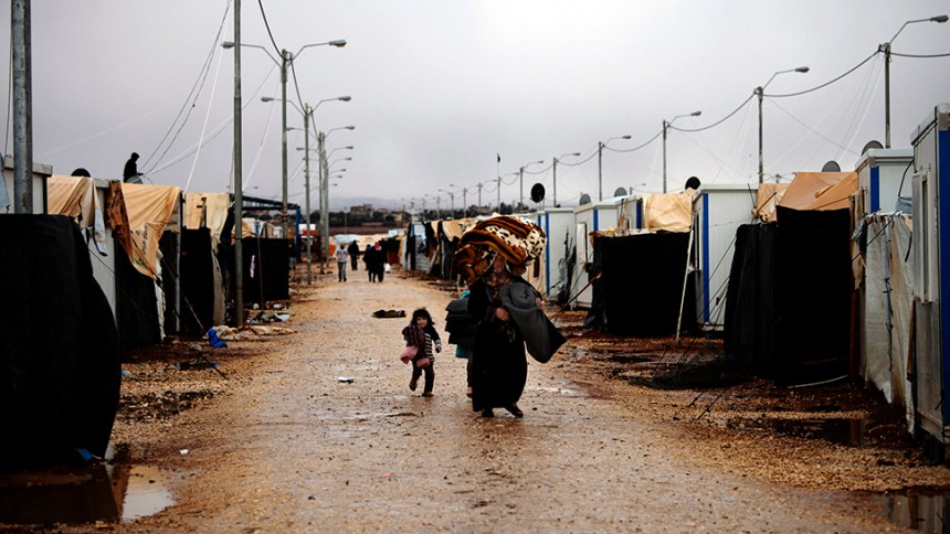 Mideast Jordan Syria Refugees Winter