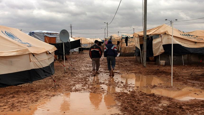 Mideast Jordan Syria Refugee Winter