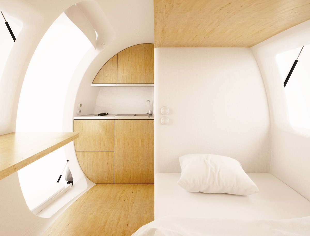 ecocapsule interior moss and fog