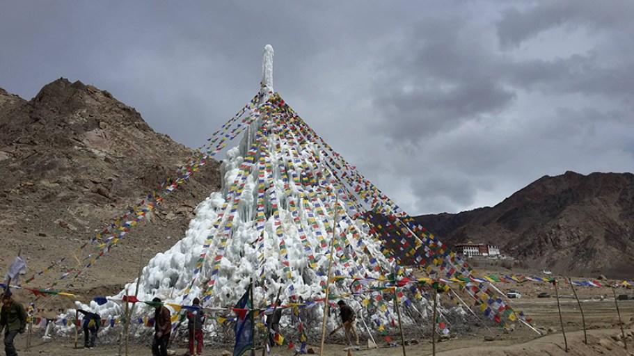 ice stupa 3 moss and fog
