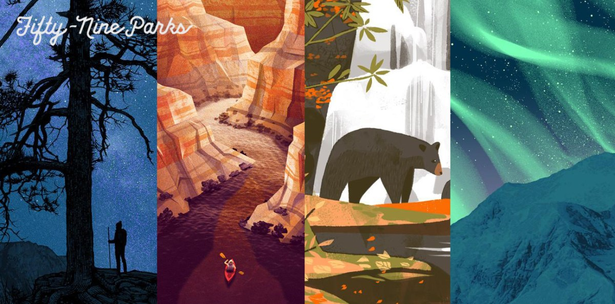 59 Parks Celebrate our National Parks with Beautifully Illustrated Posters