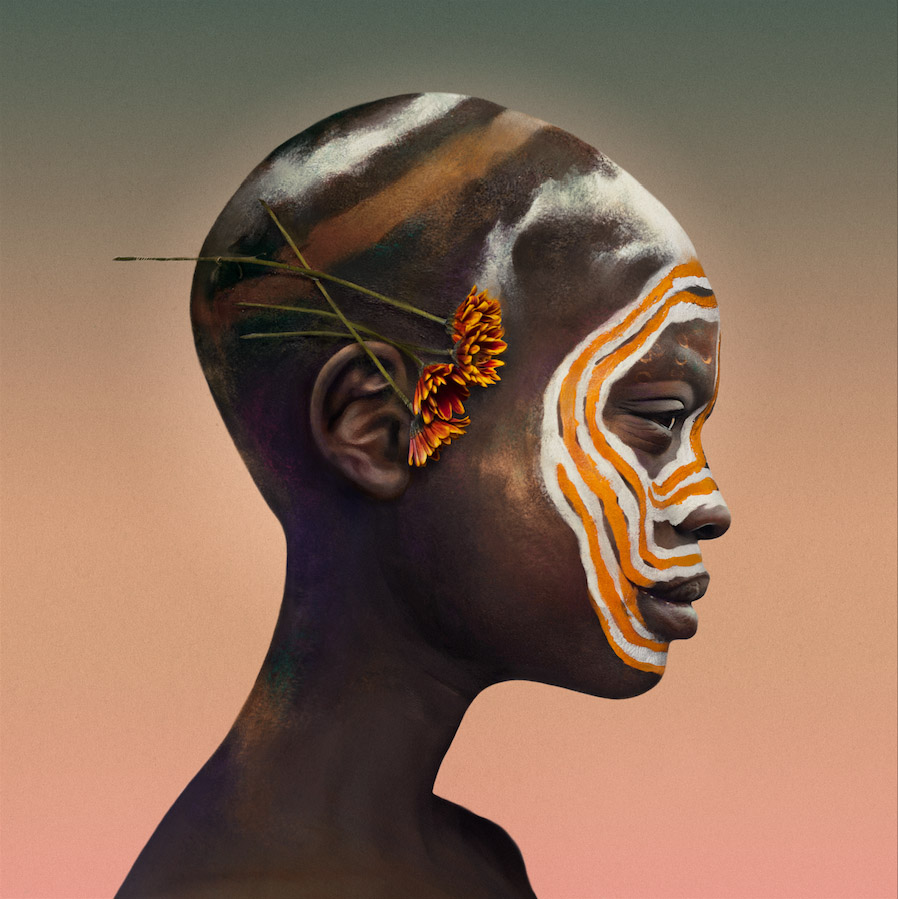 Realistic paintings of African faces by Colombian artist Felipe Bedoya.