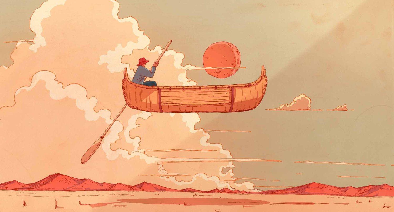 Wenyi Geng's vivid imagination takes you on surreal journeys through an orange-tinted frame.