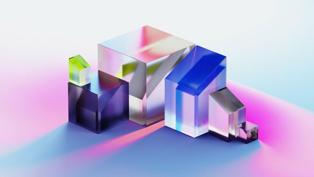 Beautiful sleek glass objects entitled PRISMA, rendered by Lena Steinkühler.