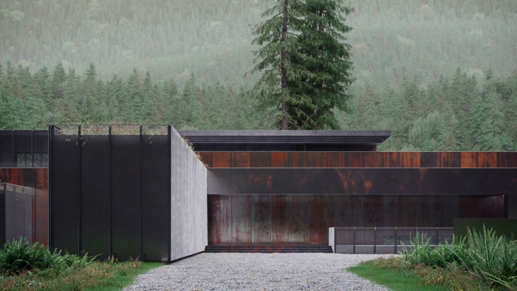 A modern home in the Ukrainian forest by Sergey Makhno Architects