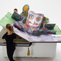 A Giant Pop-Up Book Has Nearly Life-Size Characters