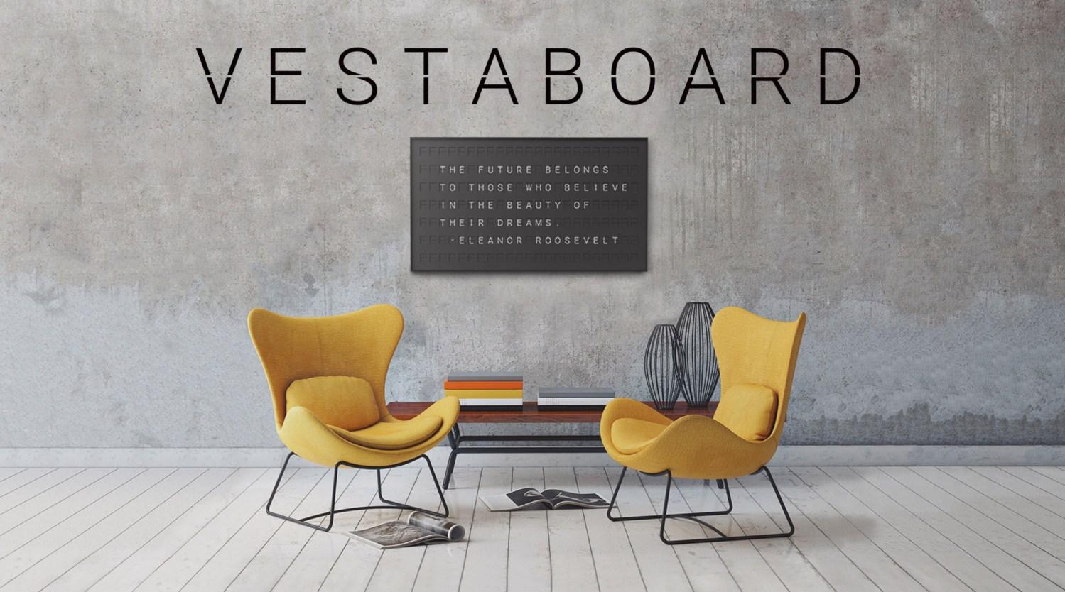 Vestaboard // moss and fog