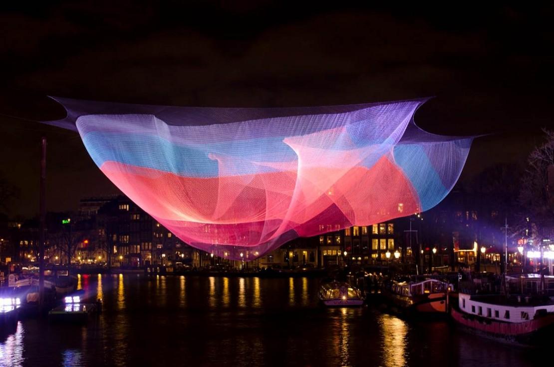 Janet Echelman's Woven Nets