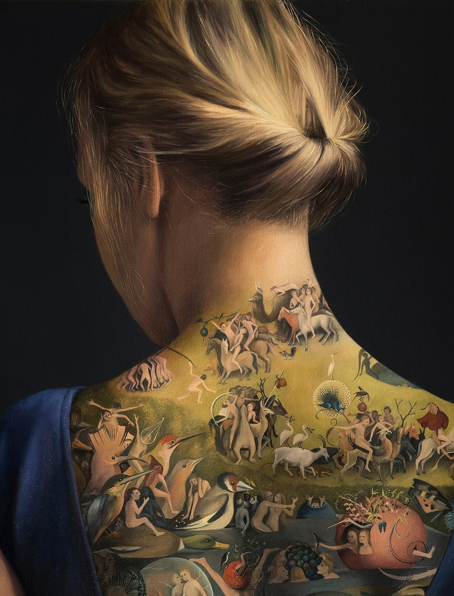 Amazing Tattooed Back Is Actually a Painting