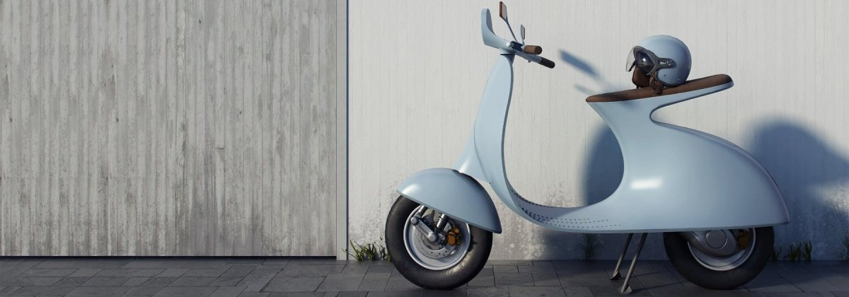 Classic Vespa Reimagined With Electric Motor