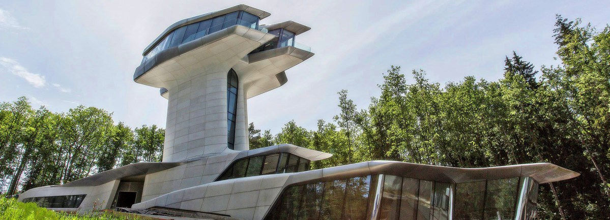 Zaha Hadid's Only Private Residence Is a Real Life James Bond Lair