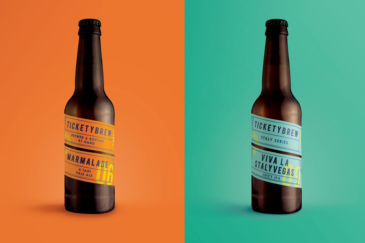 Fun Label Design for TicketyBrew Beer