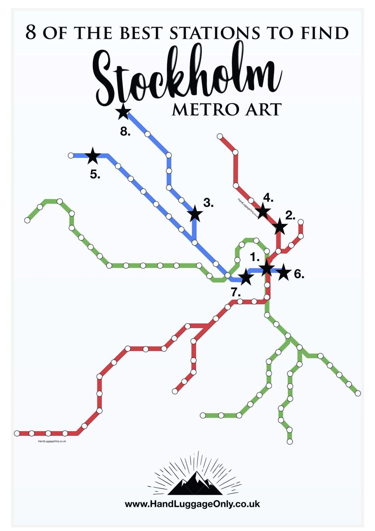 Stockholm-Metro-Map