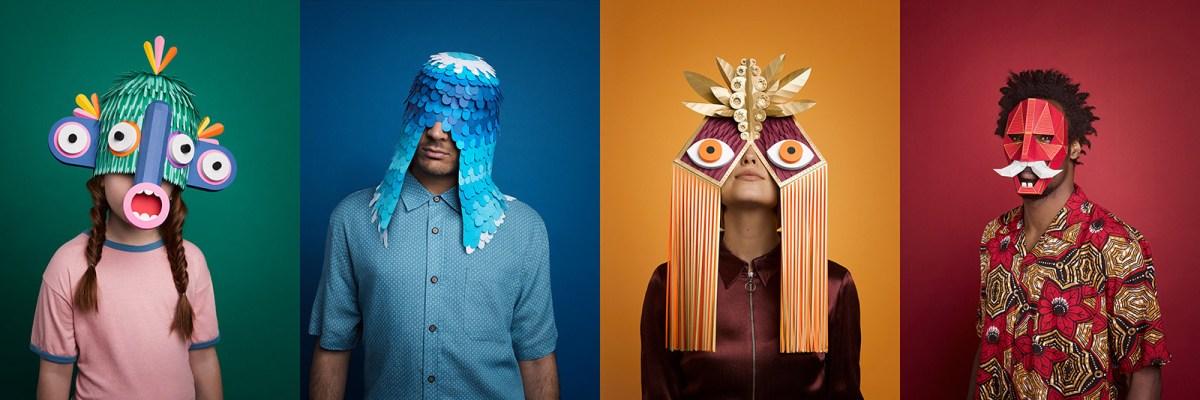 Extravagant Masks for Grec Festival of Barcelona