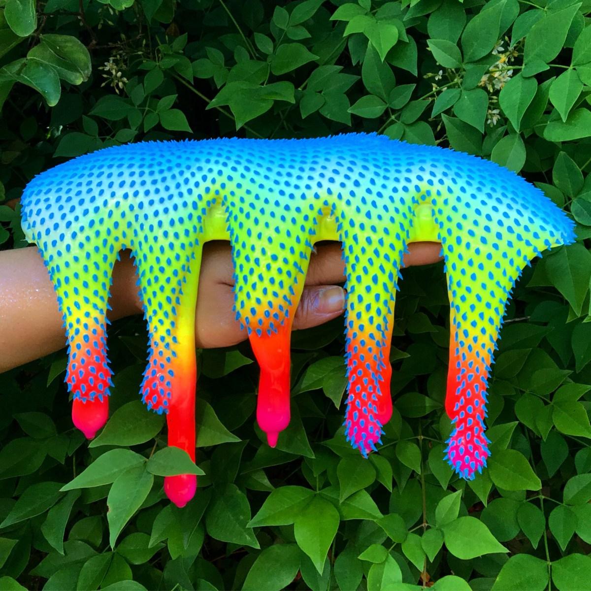 Dan Lam's Neon Alien Blob Sculptures