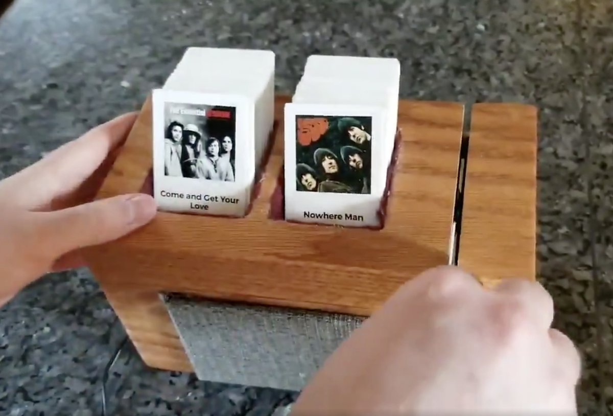 Clever Homemade Jukebox Uses Swipable Music Cards