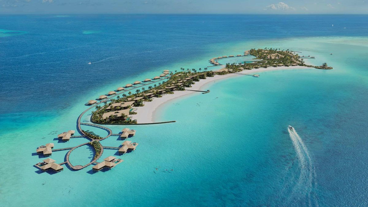 Maldives hotels water aerial