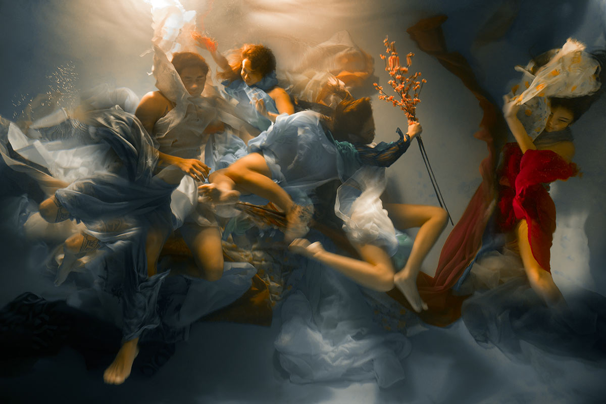 baroque scene captured underwater