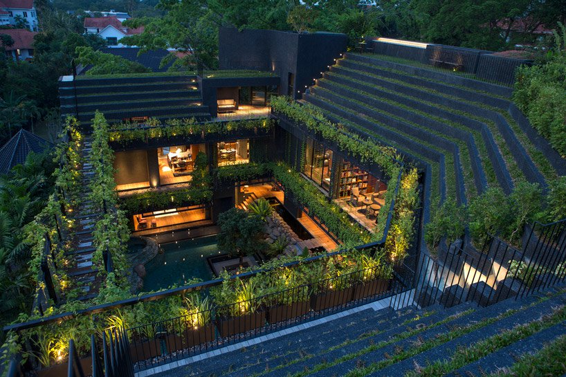 Verdant Stepped Garden Home in Singapore
