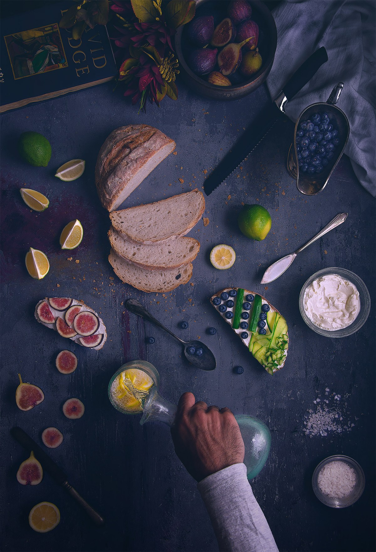 delicious overhead food photography
