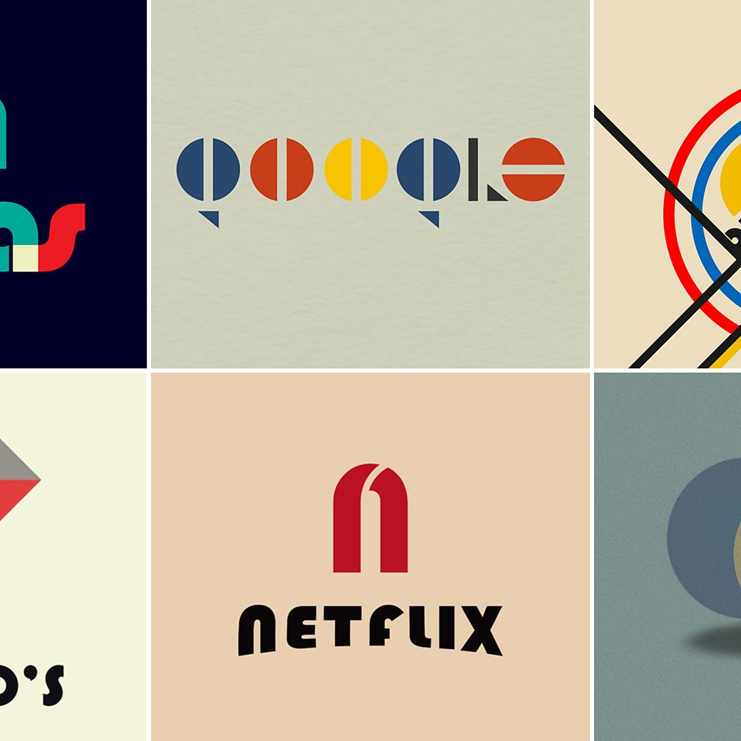 Famous Logos Turned Into Bauhaus Style