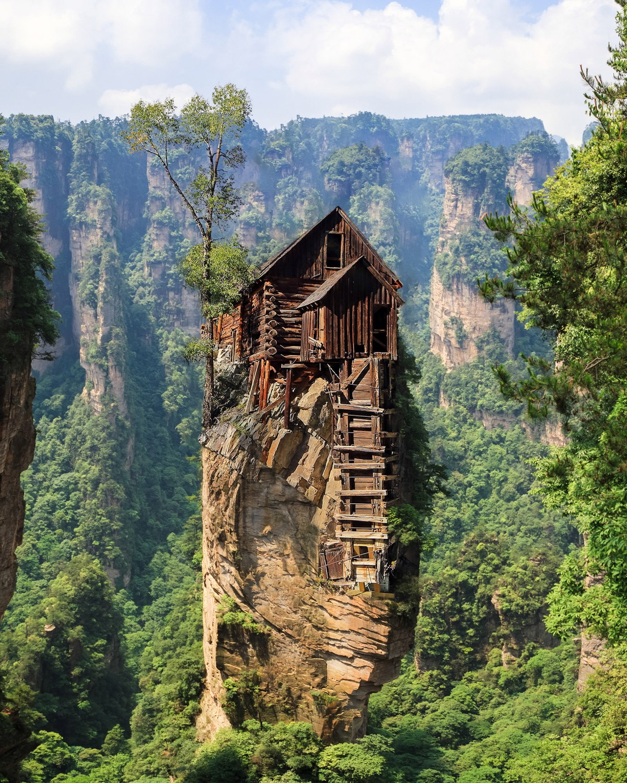 scene of rock mountain in Zhangjiajie National Forest Park,Hunan
