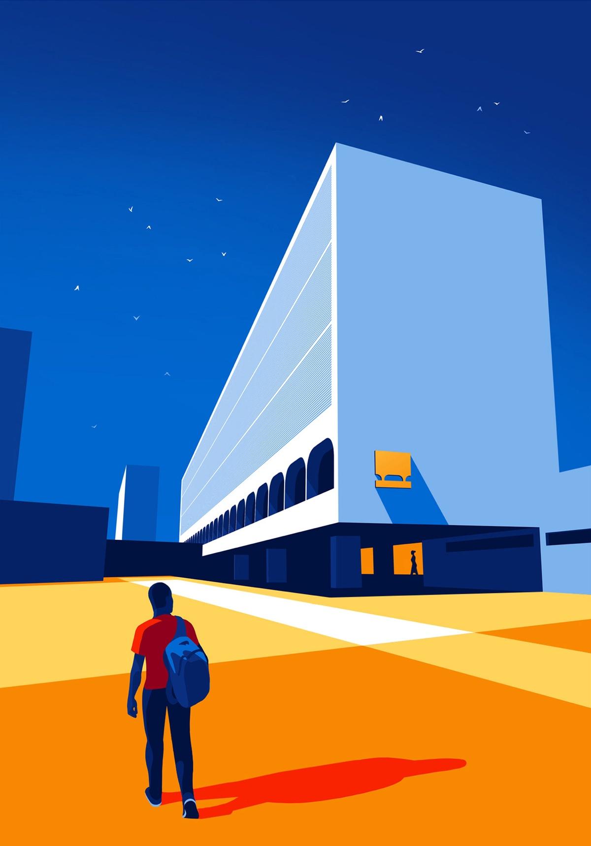 oscar-niemeyer-architecture-illustrations-levente-szabo-2
