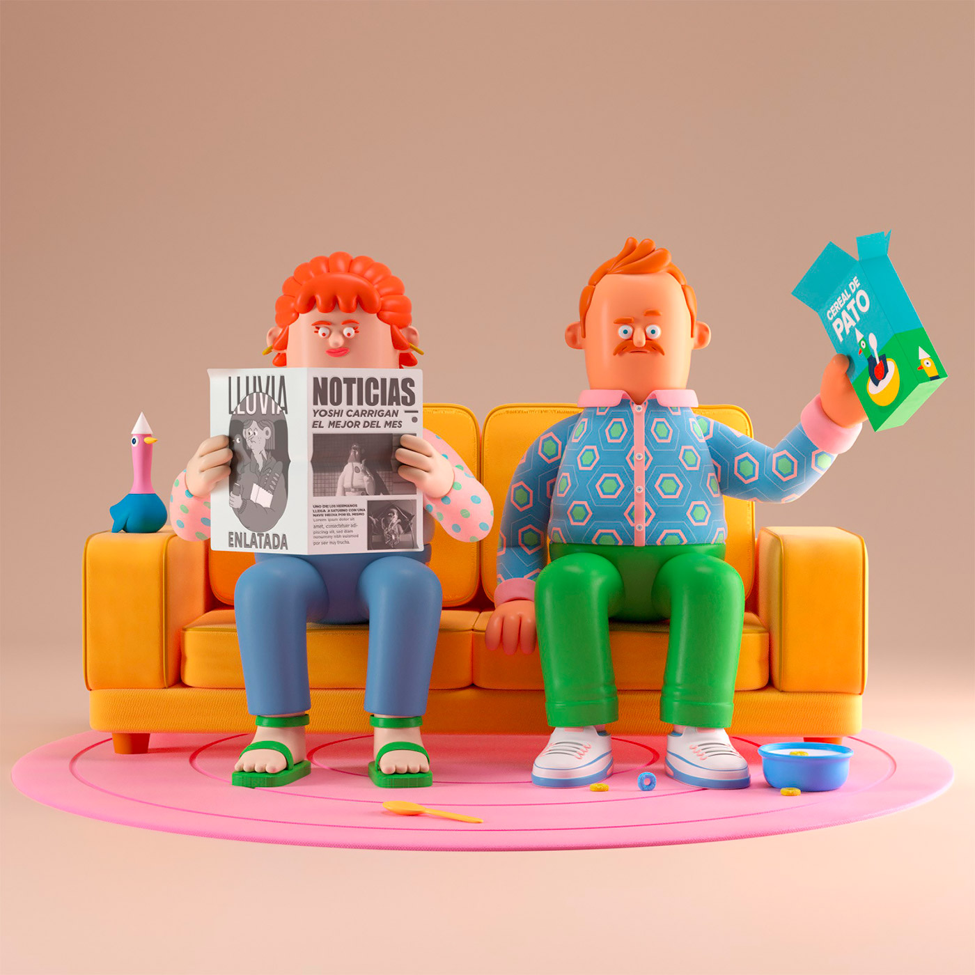 everyday adorable 3d renderings - Aaron Martinez