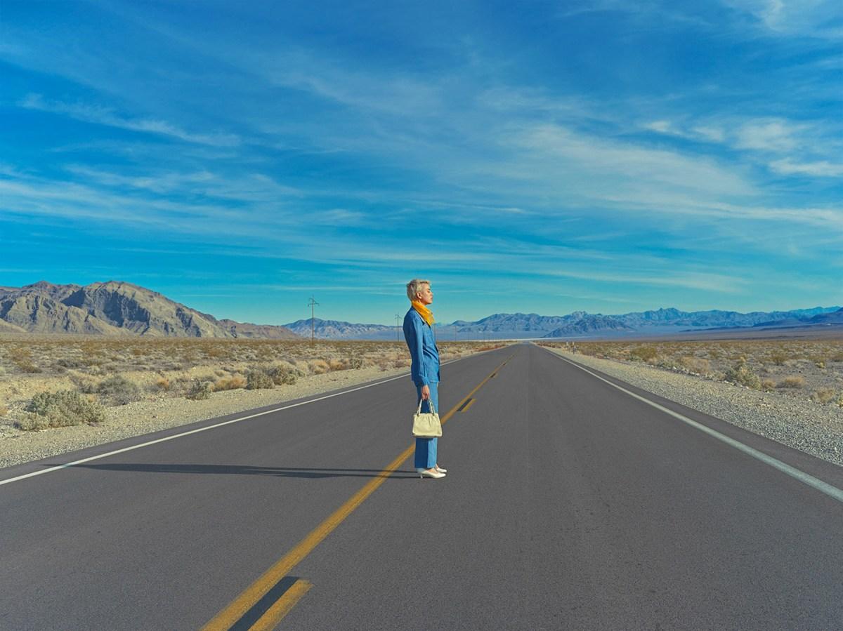 lady in the desert