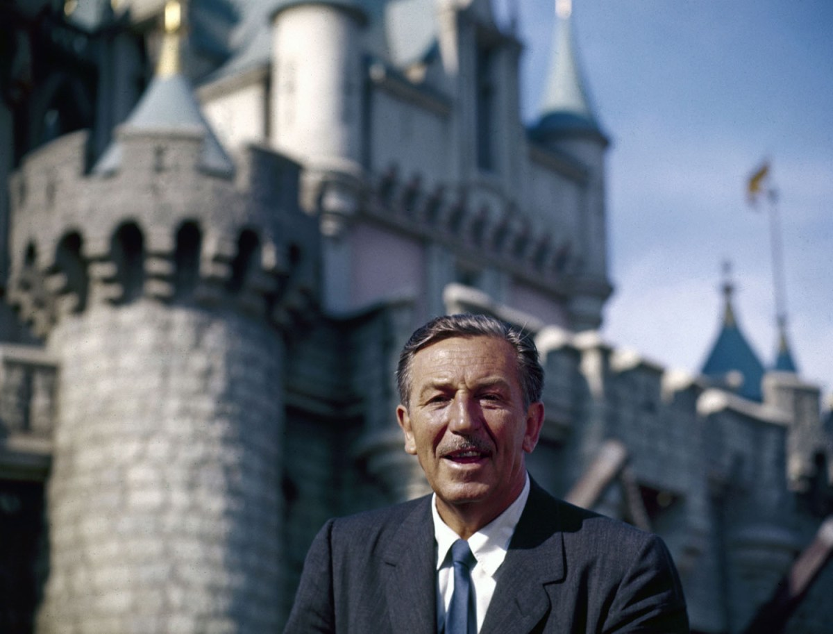 Walt Disney At Disneyland Grand Opening