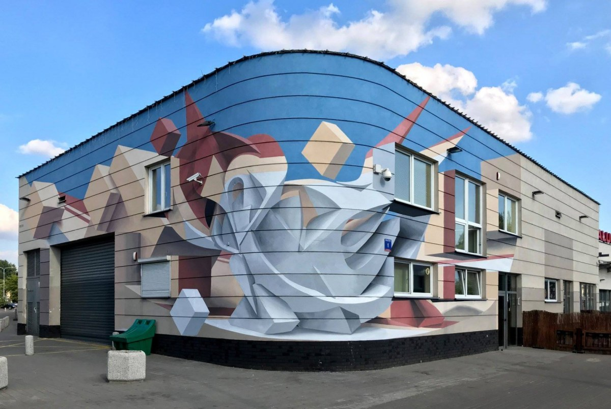 abstract optical illusion murals