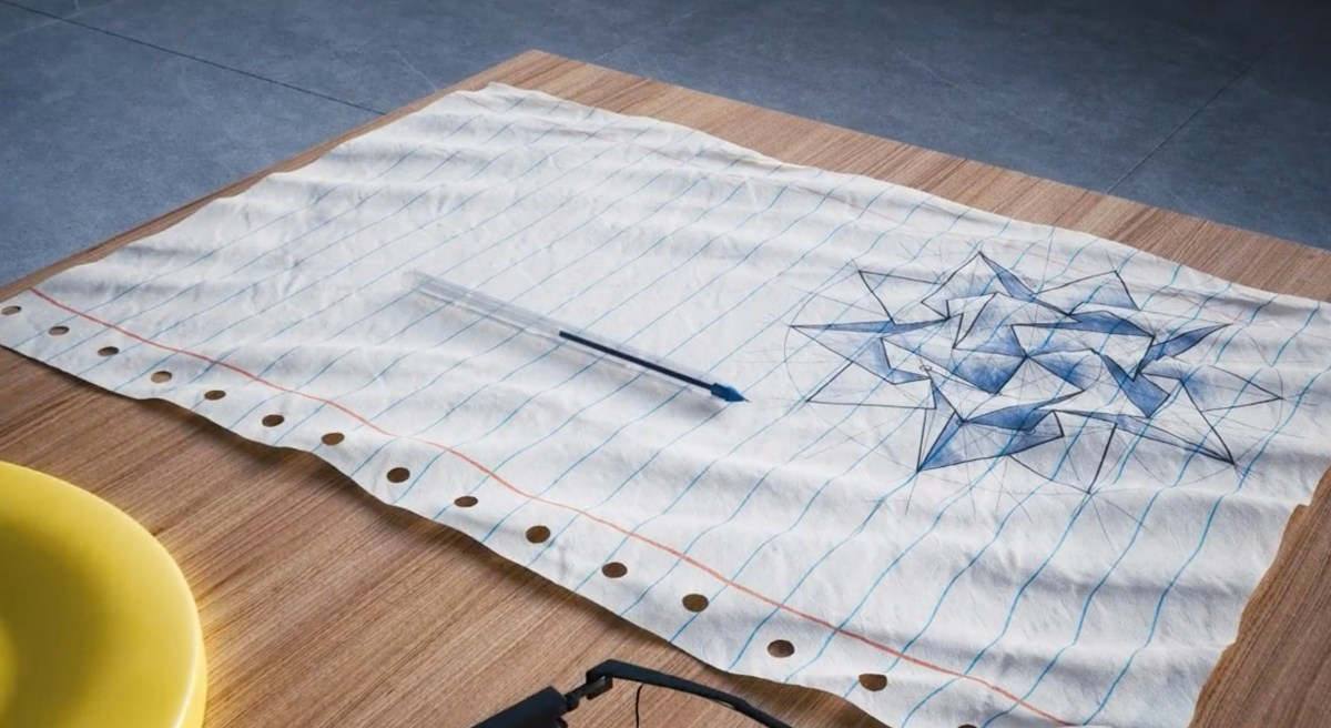 super zoom of ballpoint pen