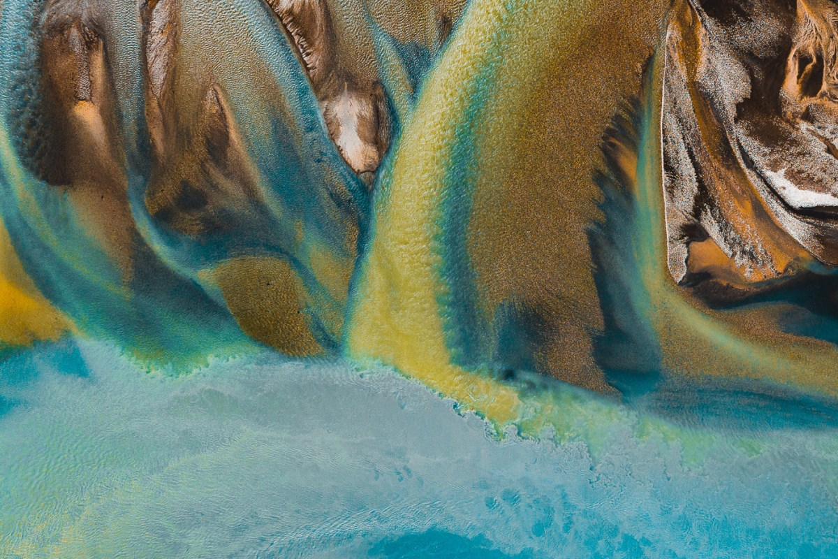 abstract river paintings made by nature