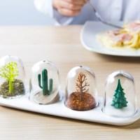 Spice Shakers Posing as Fun Snow Globes