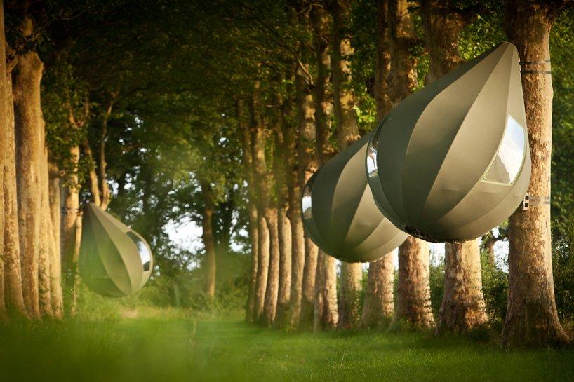 teardrop-shaped-tents-belgian-forest-designboom-3