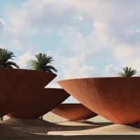 Concave Roofs Harvest Rainwater for Hot, Dry Climates