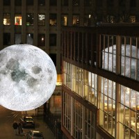 A Seven Meter Moon Travels the World