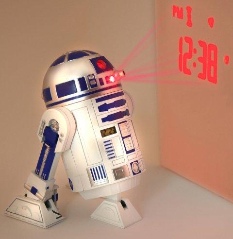 R2D2 Despertador, amb música de StarWars amb projecció