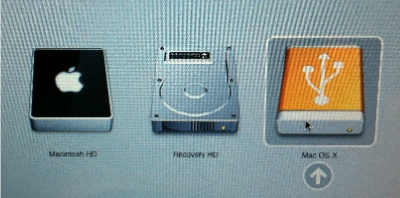Imatge arranc MacOSX Lion des d'USB