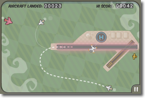 Flight control joc per iPhone
