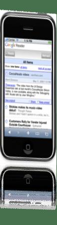 google reader per iphone