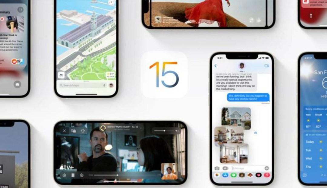 iOS 15 ja és aquí