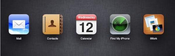 iCloud main screen