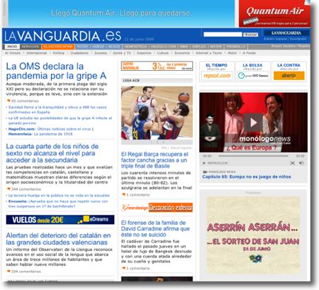 La Vanguardia abans