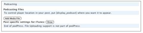 insertar un podcast en una entrada