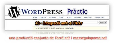 WordPress Pràctic 10 - integració amb flickr